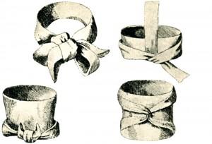 Victor Waldau on hieno herrasmies, dandy, jonka pukeutumista ihaillaan. 1800-luvun alussa miesten kaulaliinan solmiminen oli taiteenlaji, johon käytettiin suunnattomasti aikaa. Kuvassa erilaisia solmintamalleja: A la Byron, Primo Tempo, Irlandaise ja Orientale.