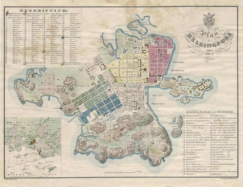 Vuoden 1832 Helsinki ei vielä ollut niin täydellinen kuin tämä vuoden 1838 asemakaava esittää. Paperiprinssin päätapahtumat keskittyvät kaupungin laidalle Kolmikulmaan (Förstadstorget). Se näkyy kartassa suunnilleen keskelläEsplanadien ja Bulevardin kulmasta etelään Erottajan vieressä.